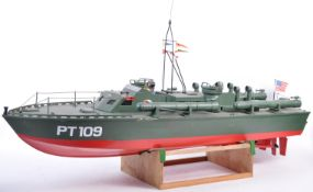 IMPRESSIVE LARGE SCALE MODEL OF US ARMY PT 109 TORPEDO BOAT