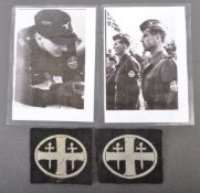 WWII INTEREST - PAIR OF WWII NORWEGIAN GERMAN UNIT PATCHES