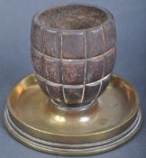 WWI FIRST WORLD WAR TRENCH ART MATCH STRIKE / ASHTRAY GRENADE