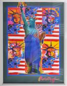 PETER MAX - GOD BLESS AMERICA WITH FIVE LIBERTIES