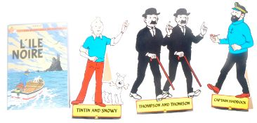 GROUP OF THREE TINTIN POINT OF SALE DISPLAY CUT-OUTS