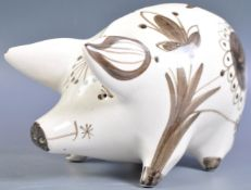 WEMYSS POTTERY 1960'S PAINTED PIG FIGURE