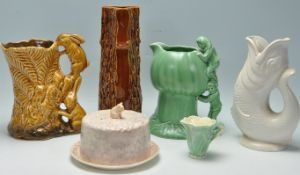 COLLECTION OF VINTAGE 20TH CENTURY SYLVAC POTTERY TOGETHER WITH A GLUGGLE JUG