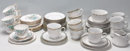 THREE VINTAGE PORCELAIN BONE CHINA PART TEA SET