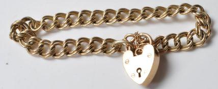 9CT GOLD ROPE LINK BRACELET