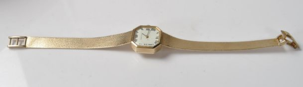 STAMPED 9CT GOLD CERTINA LADIES COCKTAIL WATCH