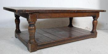 17TH CENTURY OAK REVIVAL POT TABLE - COFFEE TABLE