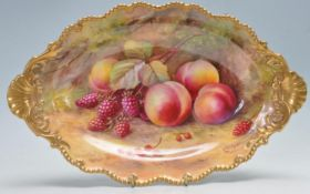 ROYAL WORCESTER DISH BY T LOCKYER