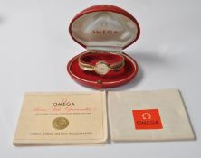9CT GOLD OMEGA LADIES WATCH