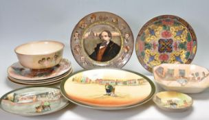 COLLECTION OF EARLY 20TH CENTURY ROYAL DOULTON PLATES