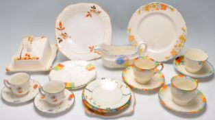 COLLECTION OF ART DECO CERAMIC WARE / PART TEASET