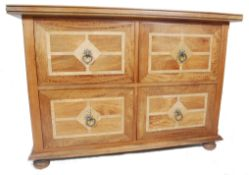 CONTEMPORARY MARQUETRY MANGO WOOD CHEST OF DRAWERS