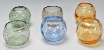 COLLECTION OF SIX RETRO VINTAGE STUDIO ART GLASSES