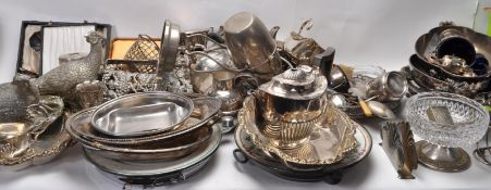 LARGE COLLECTION OF INTAGE SILVER PLATE TABLEWARE