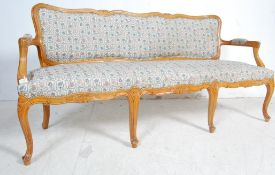 FRENCH ANTIQUE LOIUS CANNES STYLE THREE SEATER SOFA SETTEE