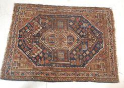 19TH CENTURY SOUTHWEST PERSIAN KHAMSEH RUG
