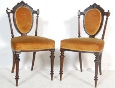 TWO 19TH CENTURY VICTORIAN MAHOGANY BEDROOM CHAIRS