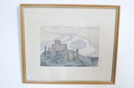 AFTER PHILIP GREGORY NEEDELL - PRINT OF CHATEAU GAILLARD