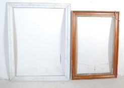 TWO ANTIQUE AND LATER WOODEN PICTURE FRAMES