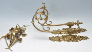 TWO 20TH CENTURY ROCOCO STYLE BRASS WALL SCONCE LIGHTS