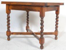 1930'S OAK BARLEY TWIST DINING TABLE