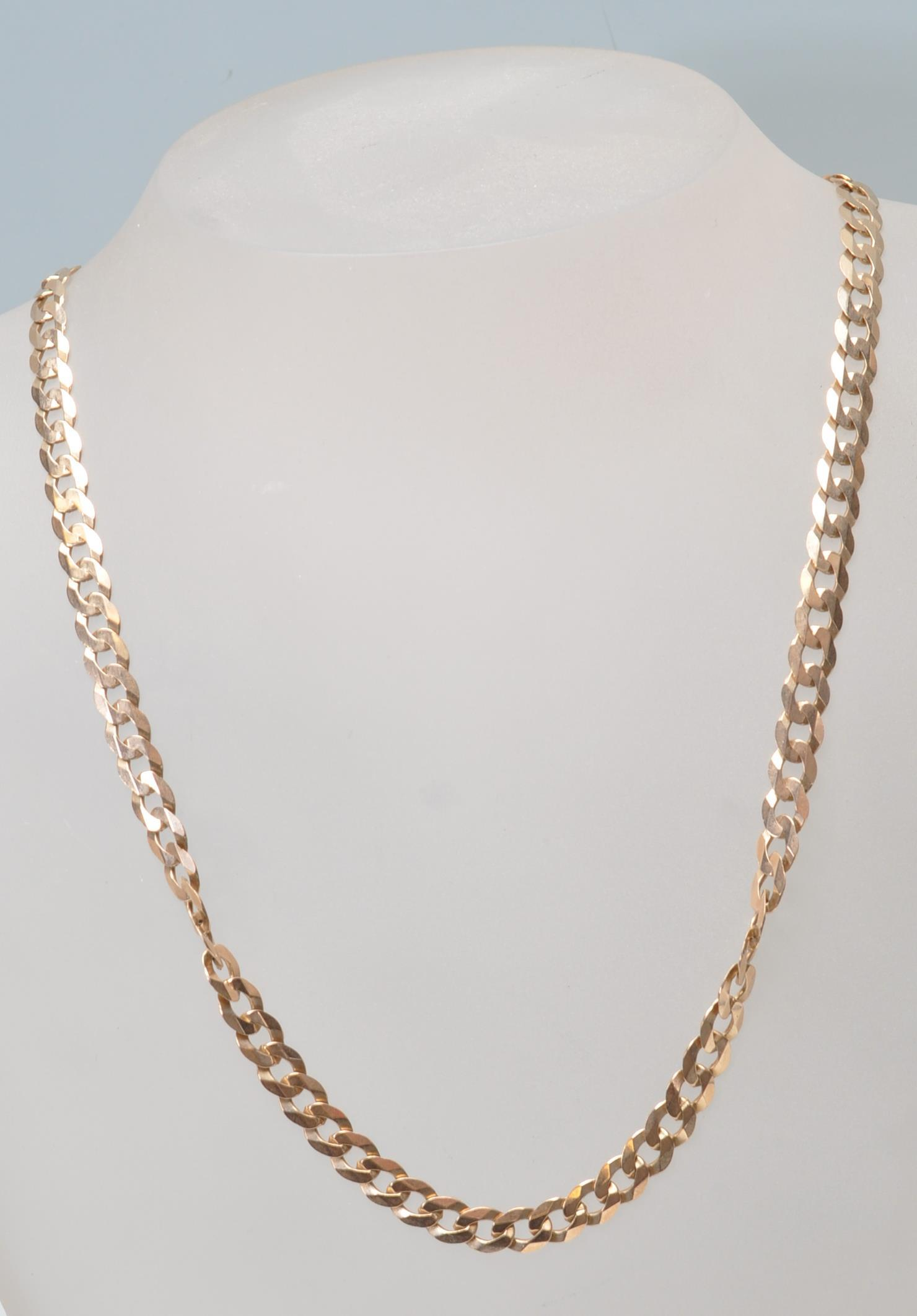 9CT GOLD FLAT LINK NECKLACE