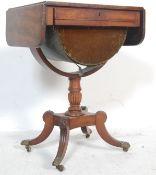 19TH CENTURY GEORGE III MAHOGANY LADIES WORK TABLE