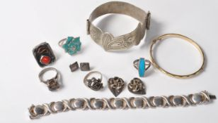 COLLECTION OF STAMPED .925 SILVER AND WHITE METAL JEWELLERY