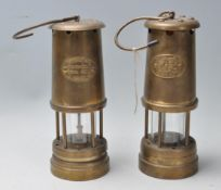 TWO 20TH CENTURY WELSH MINERS LAMPS