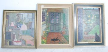 THREE OIL ON CANVAS PAINTINGS BY MYRTLE GOULDEN