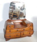 CIRCA 1930'S WALNUT PEDESTAL DRESSING TABLE CHEST