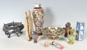 COLLECTION OF ANTIQUE CHINESE AND JAPANESE CERAMIC WARE