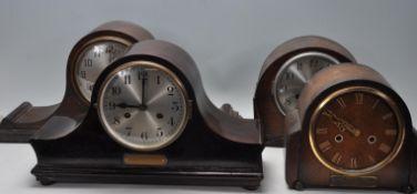 FOUR VARIOUS 1930'S MANTEL CLOCKS