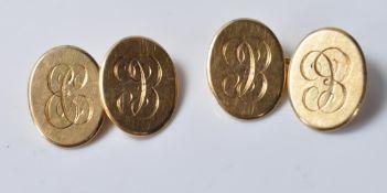 PAIR OF 18CT GOLD CUFFLINKS