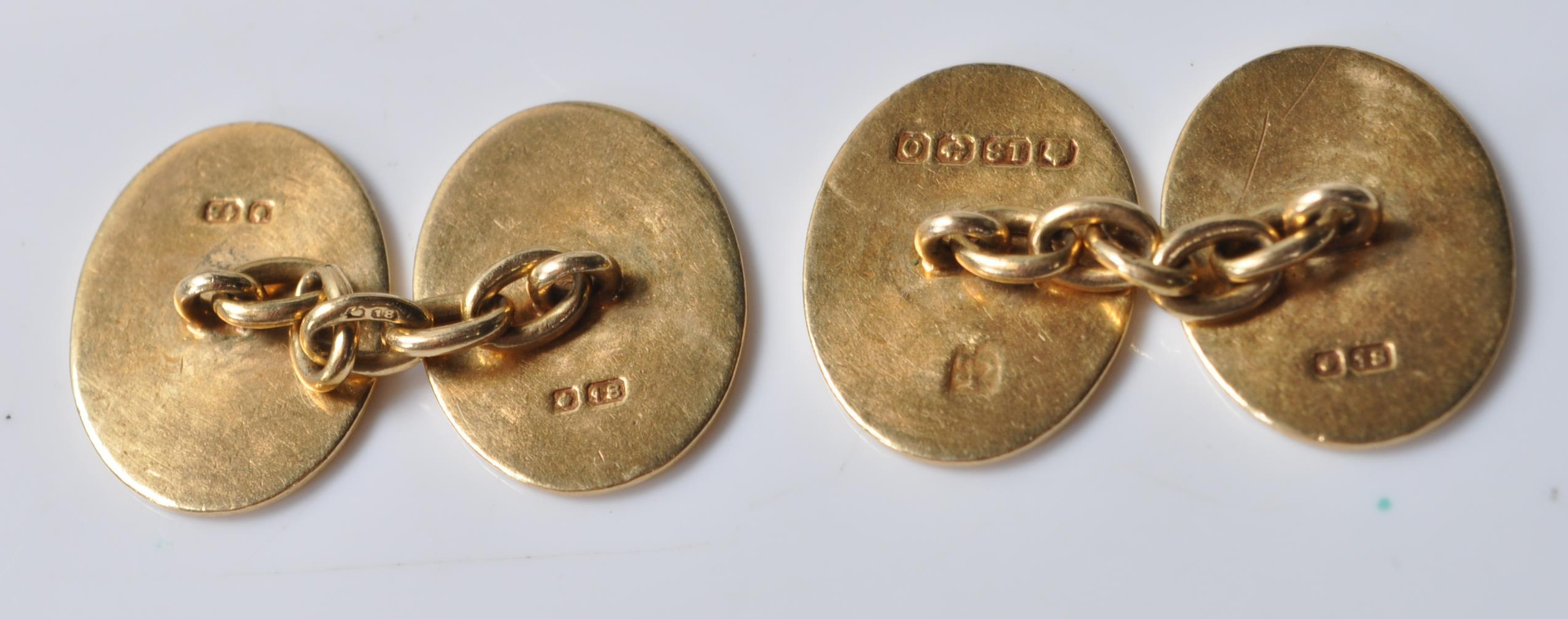 PAIR OF 18CT GOLD CUFFLINKS - Image 4 of 6