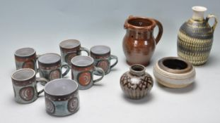 A COLLECTION OF VINTAGE 20TH CENTURY STUDIO POTTERY