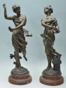 PAIR OF ANTIQUE EARLY 20TH CENTURY FRENCH SPELTER FIGURINES