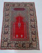 20TH CENTURY TURKISH PRAYER CARPET RUG