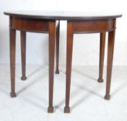 19TH CENTURY GEORGE III MAHOGANY D-END DINING TABLE