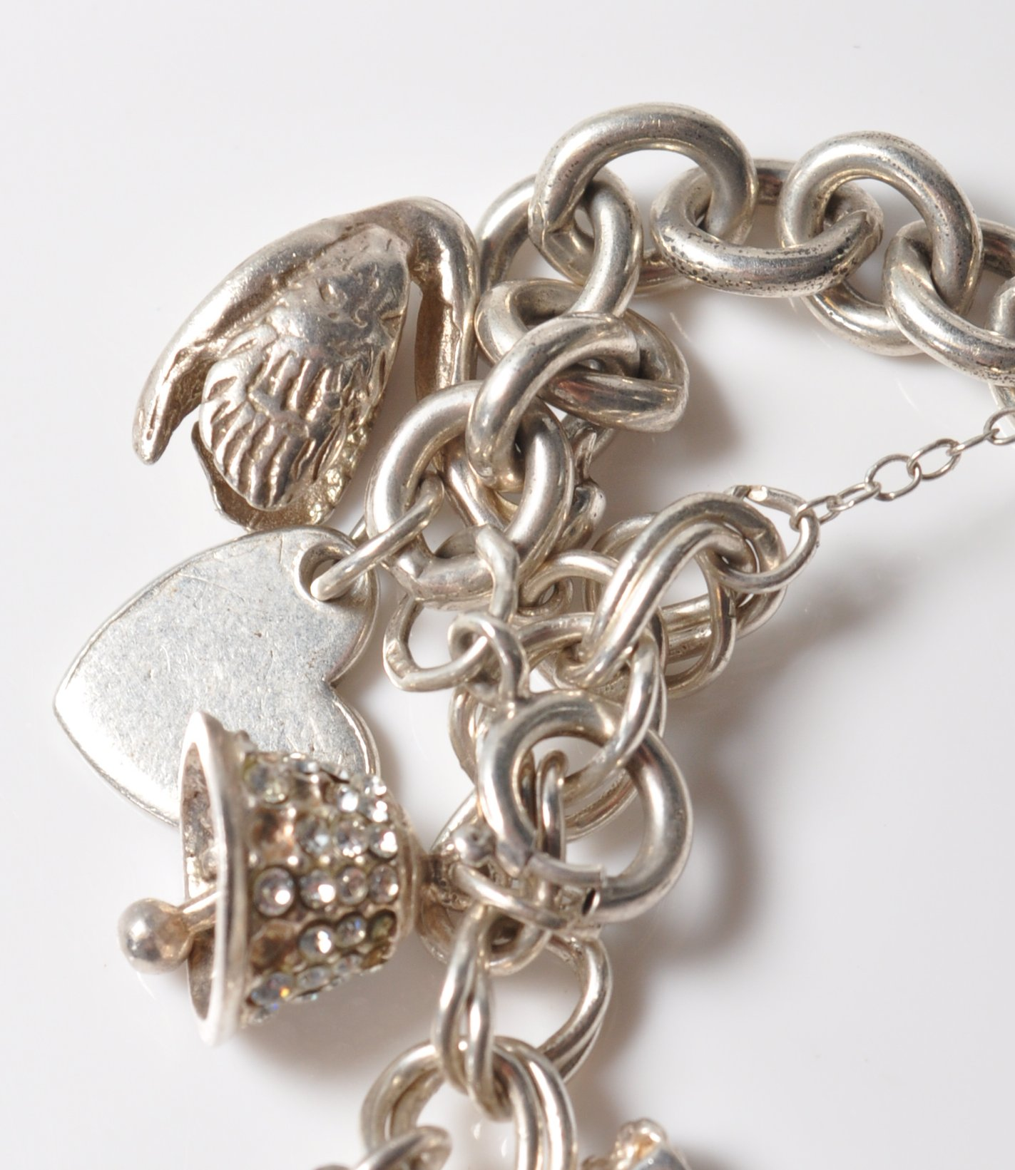 SILVER STAMPED 925 CHARM BRACELET. TOTAL WEIGHT 64 GRAMS. - Image 6 of 8