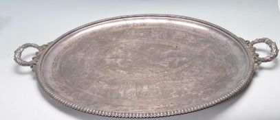 VICTORIAN N H & CO SILVER PLATED TRAY
