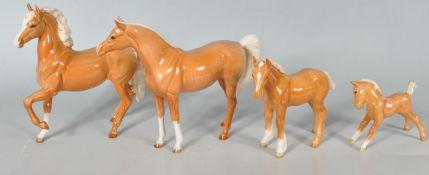 FOUR 20TH CENTURY BESWICK HORSES