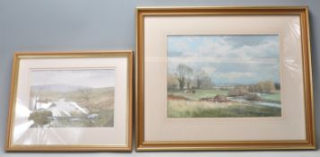 TWO LATE 20TH CENTURY BRISTOL SAVAGES WATERCOLOURS