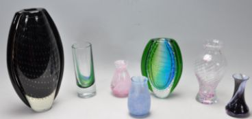 COLLECTION OF LATE 20TH CENTURY STUDIO ART GLASS