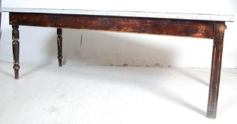 LARGE EARLY 20TH CENTURY LIBRARY TABLE