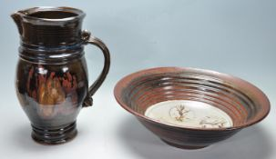 COLLECTION OF LARGE RETRO VINTAGE STUDIO ART POTTERY
