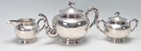 ANTIQUE CHINESE EXPORT SILVER TEA SERVICE