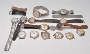 COLLECTION OF GENTLEMANS WRISTWATCHES