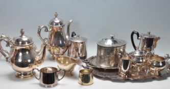 COLLECTION OF VINTAGE 20TH CENTURY SILVER PLATE