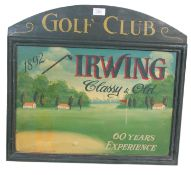 20TH CENTURY ANTIQUE STYLE WOODEN GOLF SHOP SIGN